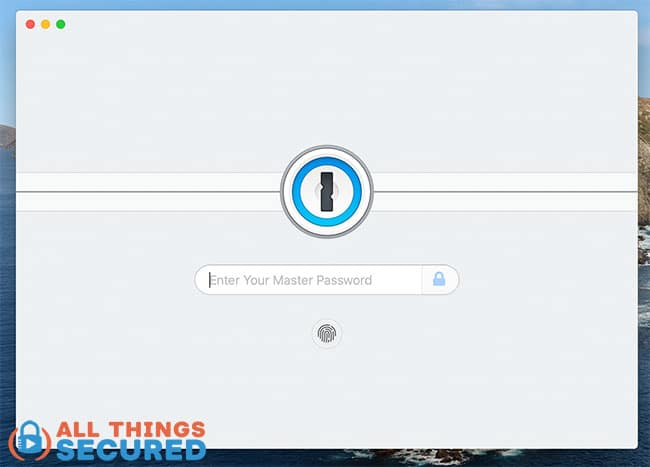 1Password desktop to enter your master password