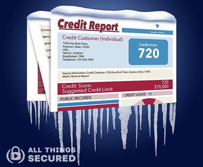 What is a consumer credit freeze?