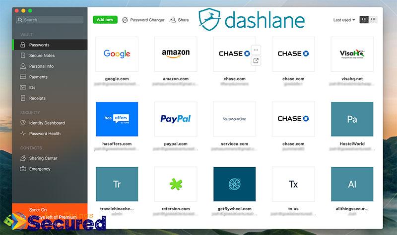 Dashlane desktop app
