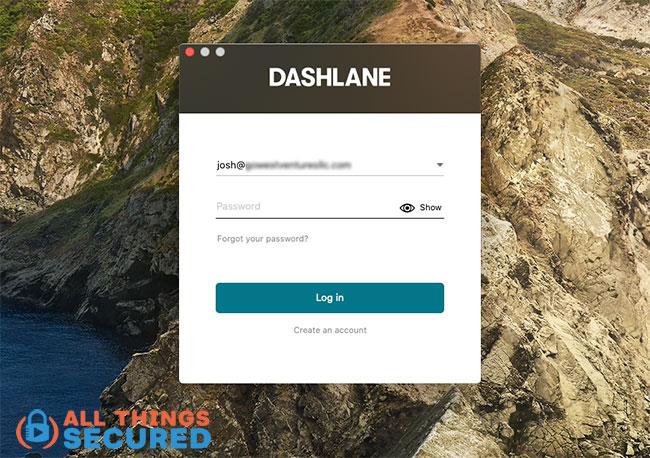 Dashlane Desktop login