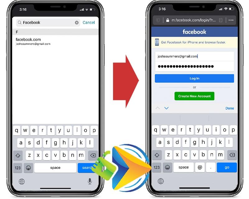 Dashlane mobile app autofill feature