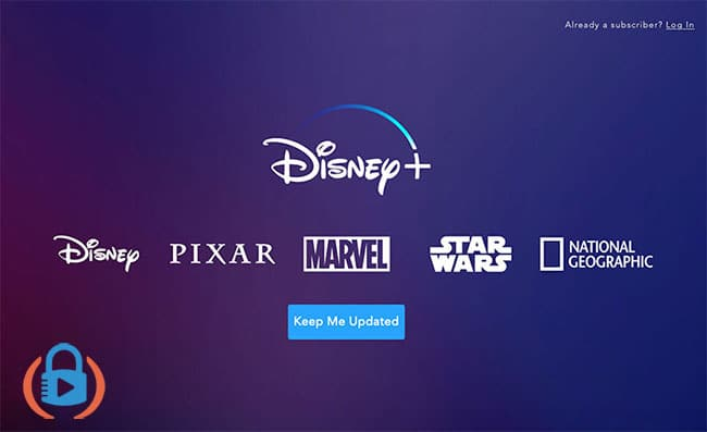 """Disney+ website in Thailand, which only allows you to """"Keep Me Updated"""""""