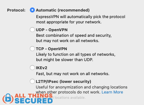Different VPN connection protocols to choose from