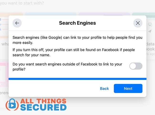 How your Facebook profile can be found on search engines like Google