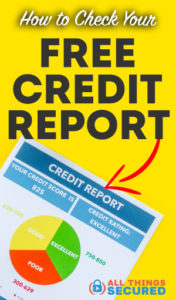 Save this article about how to check your free credit report on Pinterest