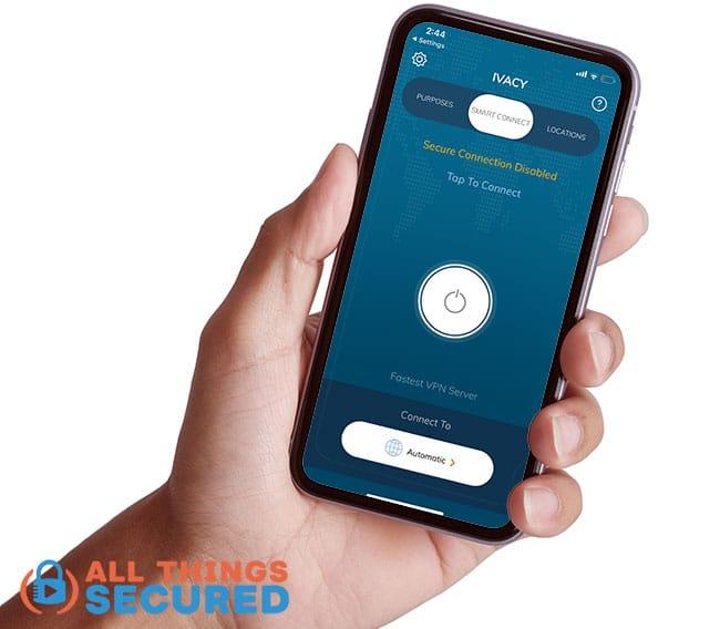 Ivacy VPN Mobile app screenshot