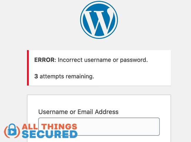 Limit Logins to secure a wordpress website