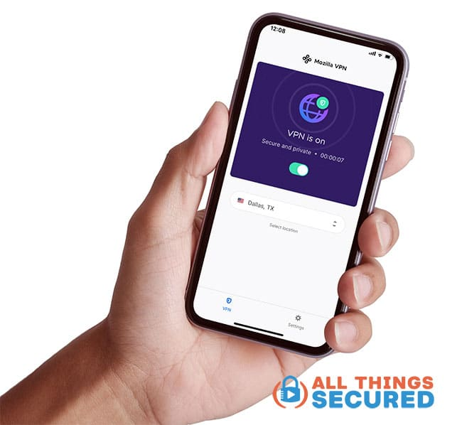Mozilla VPN mobile app for iOS