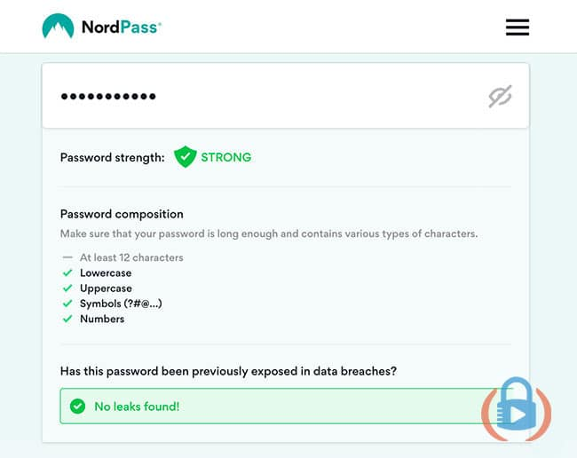 Nordpass password security checker with data breach check