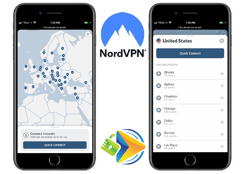NordVPN Mobile app screenshots