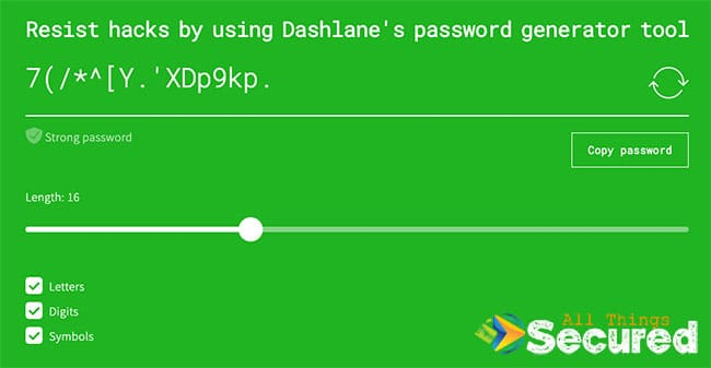 Use a free password generator to help make your Google Chrome password secure.