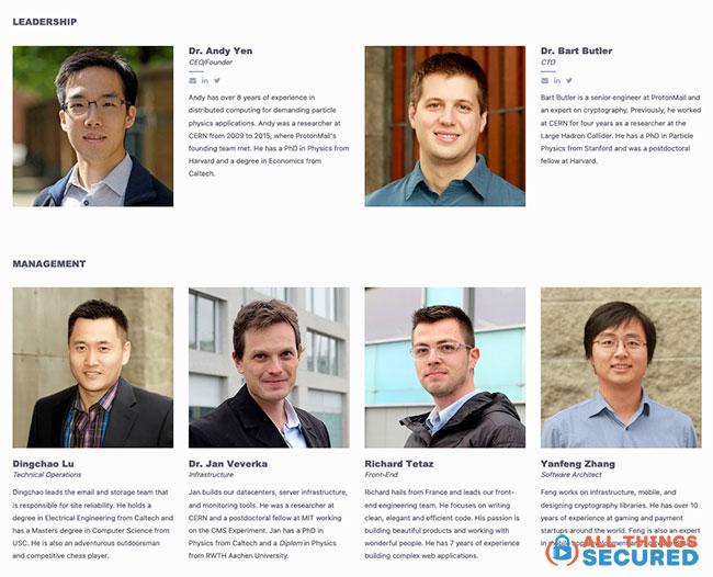 Proton leadership team