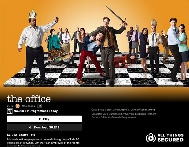 The Office series page on Netflix (accessed in January 2021)