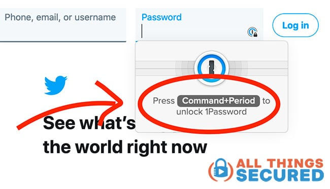 1Password browser lock