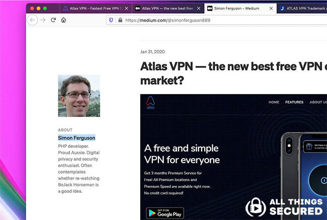 Who is Simon Ferguson with Atlas VPN?